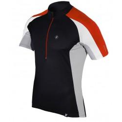 koszulka termiczna rowerowa BERENS Dilin - czarno-czerwona