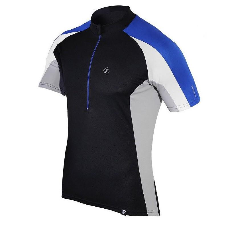 koszulka termiczna rowerowa BERENS Dilin - czarno-niebieska