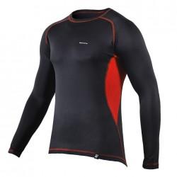koszulka termoaktywna BERENS BaseProtect - czerwony panel