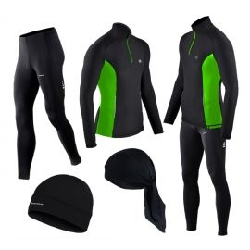 Spodnie do biegania i bluza termoaktywna BERENS limonka + czapka lub bandamka gratis