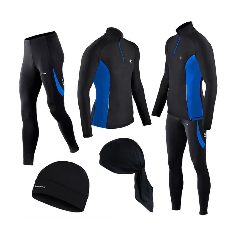 GRATISY! spodnie i bluzy termoaktywne BERENS niebieski