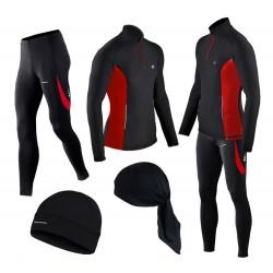 GRATISY! spodnie i bluza do biegania BERENS czerwony
