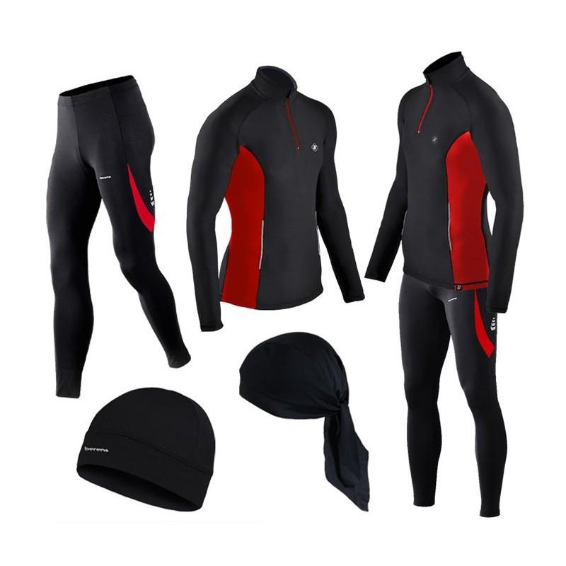 GRATISY! spodnie i bluzy termoaktywne BERENS czerwony