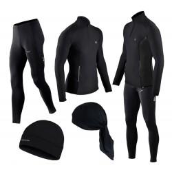GRATISY! spodnie i bluza do biegania BERENS czarny