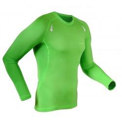 koszulka termoaktywna do biegania BERENS Bigan LS - limonka