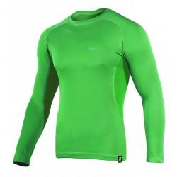koszulka termoaktywna z długim rękawem BERENS BaseProtect - limonka