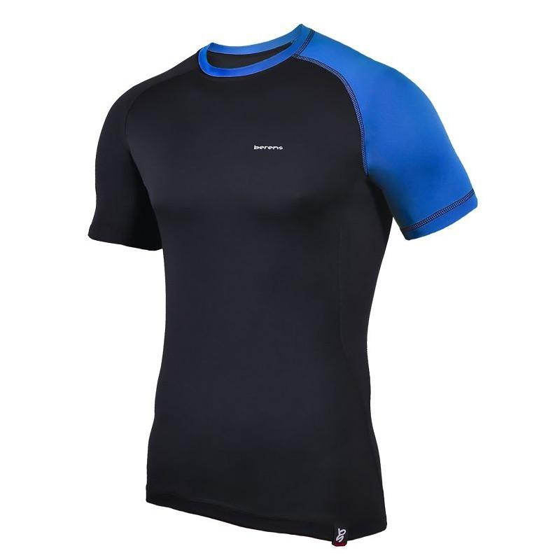 koszulka termoaktywna z krótki rękaw BERENS 2Col - czarna-nieb