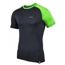 koszulka termoaktywna krótki rękaw BERENS 2Col - czarnaLM
