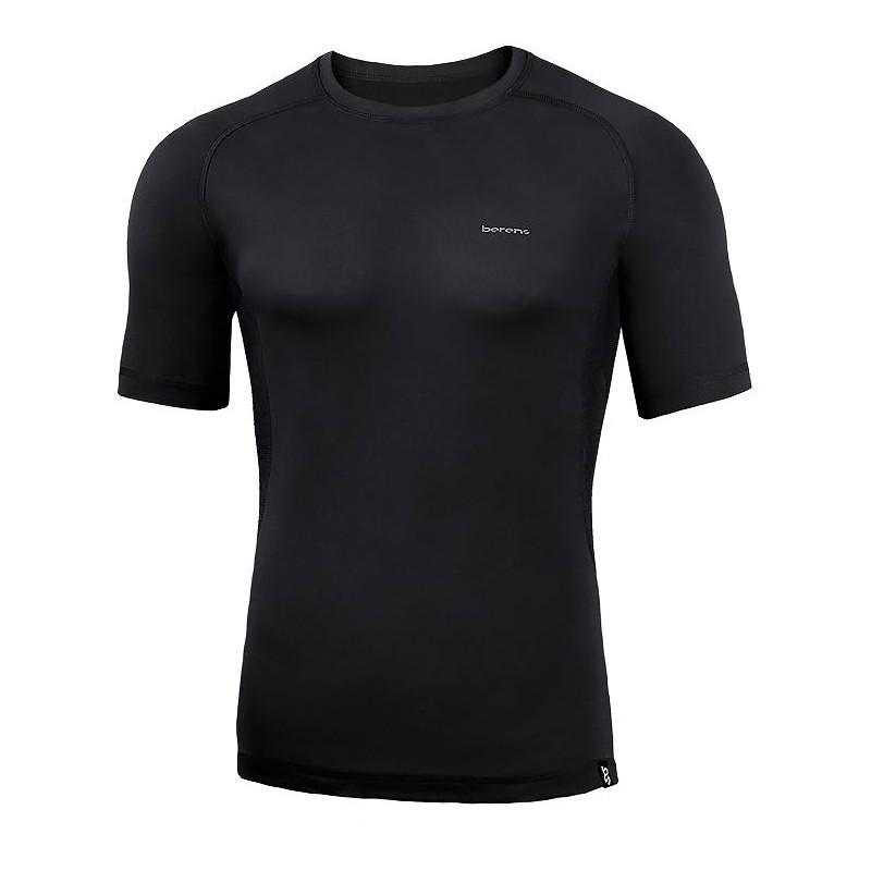 koszulka termiczna z krótkim rękawem BERENS BaseProtect - czarna