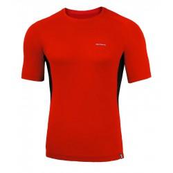 Koszulka termoaktywna z krótkim rękawem BERENS BaseProtect - czerwona