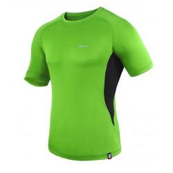 Koszulka termoaktywna z krótkim rękawem BERENS BaseProtect - limonka-czarny