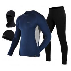 komplet termoaktywne spodnie + termoaktywna koszulka + czapka termoaktywna BERENS BaseProtect - gs