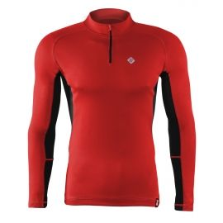 koszulka termoaktywna do biegania z zamkiem  BERENS - czerwona