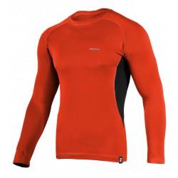 Koszulka termoaktywna z długim rękawem BERENS BaseProtect - czerwona