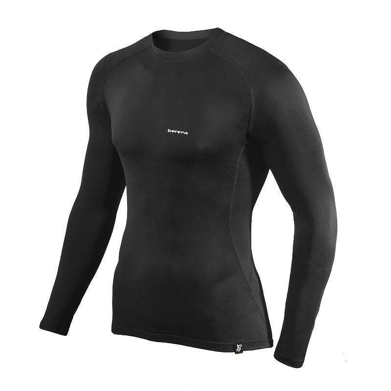 koszulka termoaktywna z długim rękawem BERENS BaseProtect - czarna