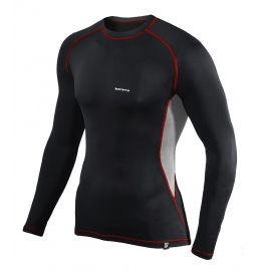 Koszulka termoaktywna z długim rękawem BERENS BaseProtect - czarno-szara