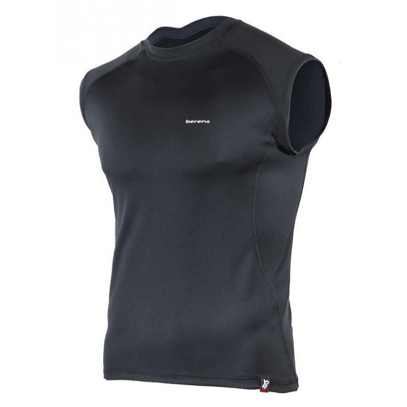 koszulka termoaktywna bez rękawów BERENS BaseProtect - czarna