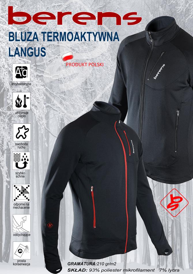 e8a09d4e1e1245 bluza termoaktywna BERENS Langus - Berens - producent odzieży ...