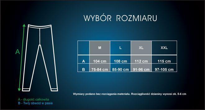 wybór rozmiarów - legginsy termoaktywne